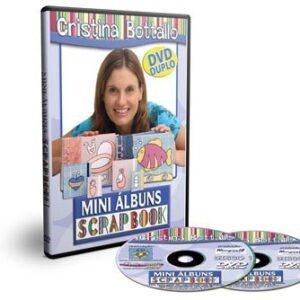 DVD Mini Albuns de Scrapbook com Cristina Bottallo - DVD DUPLO