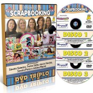 PROJETOS DE SCRAPBOOKING - DVD TRIPLO