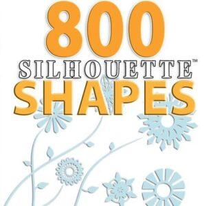 800 Figuras prontas para Silhouette