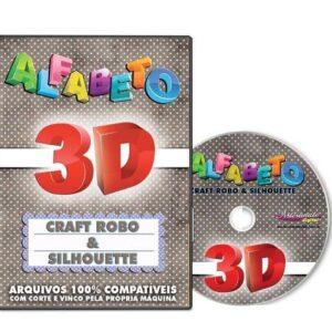 Alfabeto 3D para Silhouette e Craft Robo