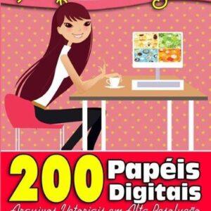 200 Papéis Digitais para Scrapbook