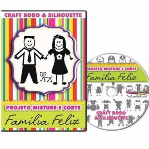 Família Feliz - Projeto Misture e Corte - Silhouette/Robo Master