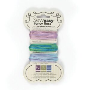 We R Memory Keepers : SewEasy Fancy Floss: VARIEGATED- TERTIARY