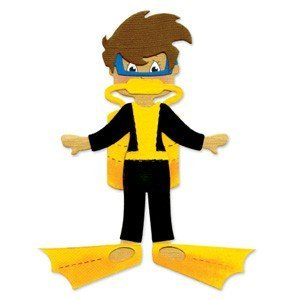 Faca de corte para sizzix - Sizzix Originals Die - Dress Ups Scuba Gear