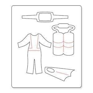 Faca de corte para sizzix - Sizzix Originals Die - Dress Ups Scuba Gear