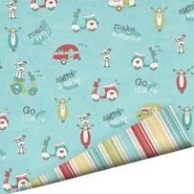 Papel para scrapbooking Imaginisce - Ruffin It
