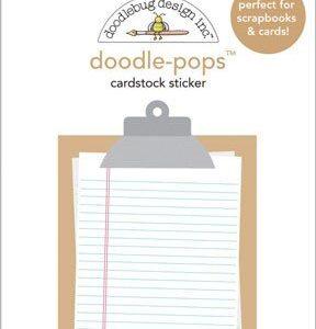 Adesivo para scrapbooking doodle-pops da Doodlebug memo
