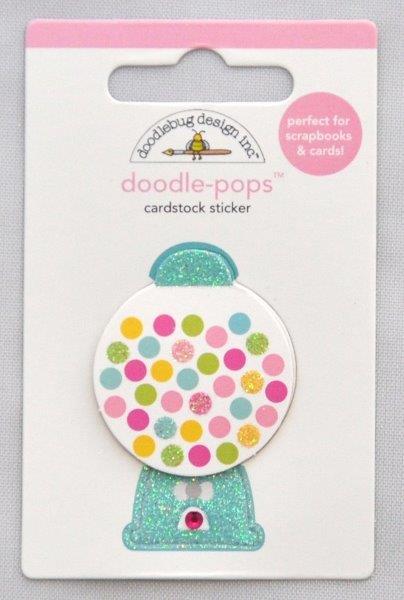 Adesivo para scrapbooking doodle-pops da Doodlebug gumballs