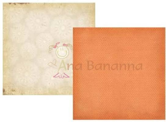 Papel para scrapbooking Simple Stories Fabulous orange mini dot/ doily 2118