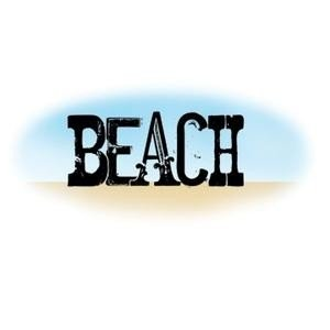 Carimbo de silicone para scrapbooking Imaginisce - Carimbo - Autumn Splendor - Clear Stamps - Beach