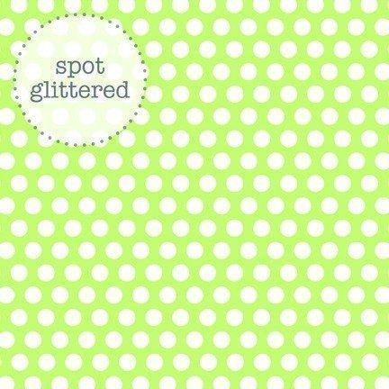 Papel para scrapbooking limeade candy dots sugar cardstock 3304