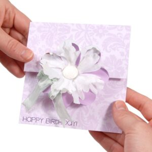 SIZZIX BIGZ MOVERS & SHAPERS - Card, Flower Flip-its by Stephanie Barnard