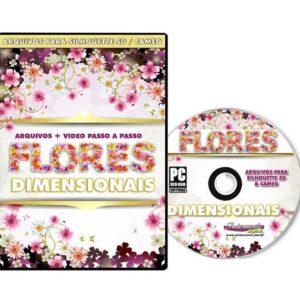 DVD - Flores Dimensionais para Silhouette Cameo