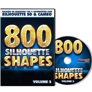 800 Figuras prontas para Silhouette SD / CAMEO - Volume 2