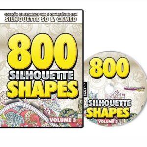800 Figuras prontas para Silhouette SD / CAMEO - Volume 3