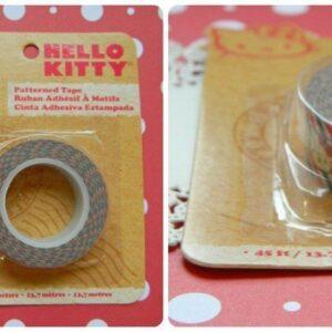 Fita Deco Tape Hello Kitty listradinha
