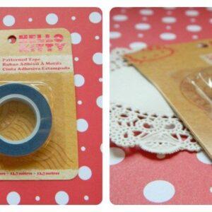 Fita Deco Tape Hello Kitty azul