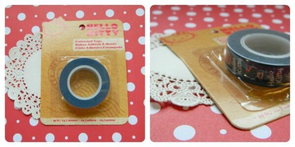 Fita Deco Tape Hello Kitty azul