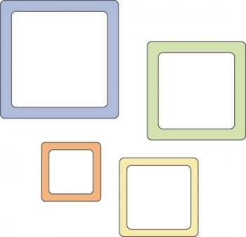 CB Die 2x2 - Rnd Square Frames