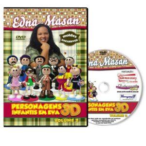 DVD - Edna Masan - Personagens Infantis em EVA 3D - Volume 2