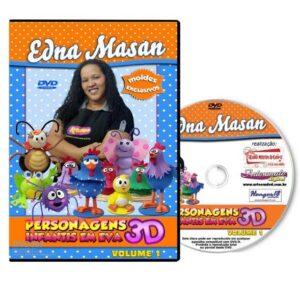 DVD - Edna Masan - Personagens Infantis em EVA 3D - Volume 1