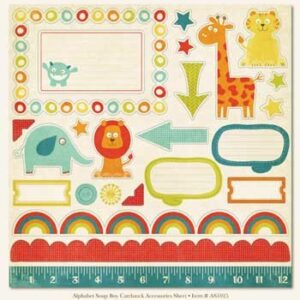 Papel para scrapbooking My Mind`s Eye Boy Cardstock Accessories Sheet
