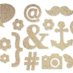 DIY - Burlap Stickers - Icons