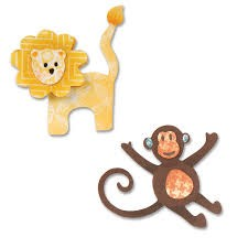 Sizzix Thinlits Die Set 8PK - Lion & Monkey by Eileen Hull