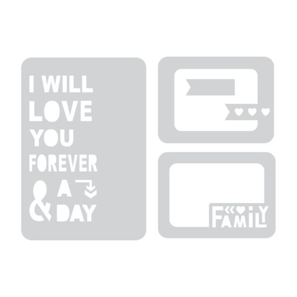 Sizzix Thinlits Die Set 4PK - Forever & a Day by Rachael Bright