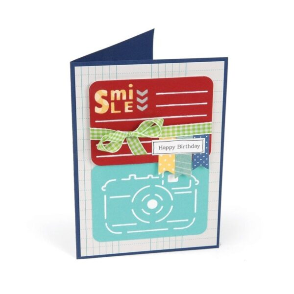 Sizzix Thinlits Die Set 3PK - Smile for the Camera by Rachael Bright