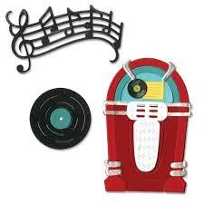 Sizzix Thinlits Die Set 11PK - Juke Box & Music by Jen Long