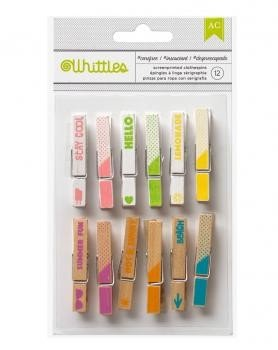 Embellishments - Summer - Whittles - Clothespins - Screenprinted - Carefree