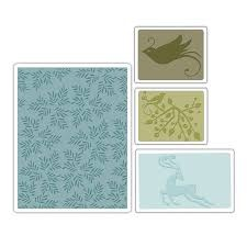 Textured Impressions - Birds & Reindeer Set by BasicGrey