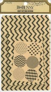Kraft Gift Bag - Chevron
