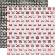 Papel para scrapbooking Echo park Typewriters