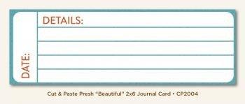 Journal Card 2x6 - Beautiful