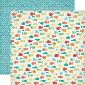 Papel para scrapbooking Echo Park Fancy Fish