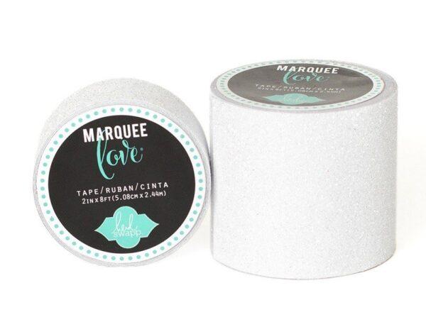 Marquee Tape - HS - Glitter - 2 - White - 8 Feet