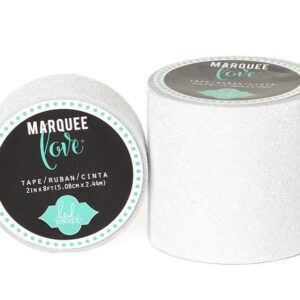 Marquee Tape - HS - Glitter - 7/8 - White - 10 Feet
