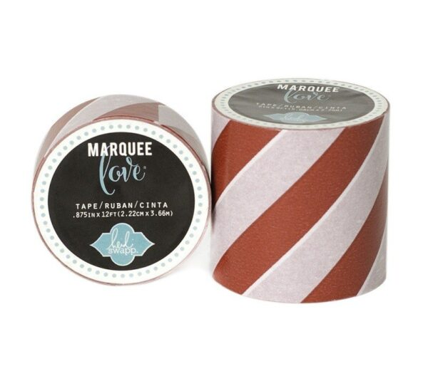 Marquee Tape - HS - Washi - 7/8 - Red Stripe - 12 Feet
