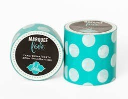 Marquee Tape - HS - Washi - 7/8 - Mint Polka Dot - 12 Feet