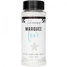 Marquee Glitter - HS - Chunky Glitter Jar - White (3 oz)