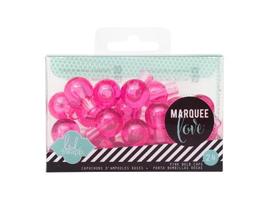 Marquee Accessories - HS - Extra Bulb Covers - Pink (24 Bulbs)