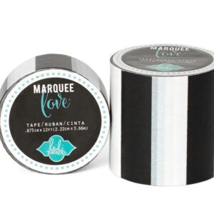 Marquee Tape - HS - Washi - 7/8 - Black Stripe - 12 Feet