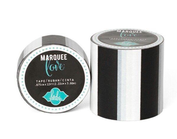 Marquee Tape - HS - Washi - 7/8 - Black Stripe - 12 Feet