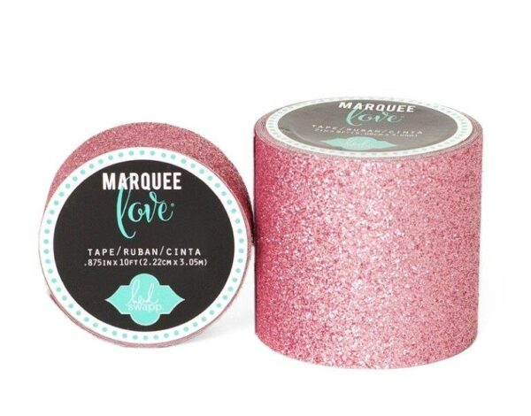 Marquee Tape - HS - Glitter - 7/8 - Pale Pink - 10 Feet