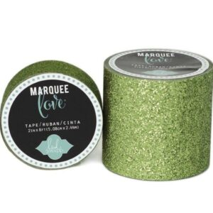 Marquee Tape - HS - Glitter - 7/8 - Lime Green - 10 Feet