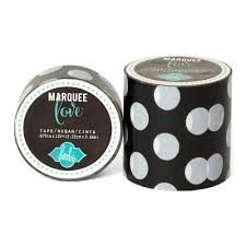 Marquee Tape - HS - Washi - 7/8 - Black Polka Dot - 12 Feet