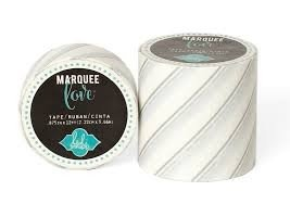 Marquee Tape - HS - Washi - 2 - Silver Foil Pinstripe - 9 Feet