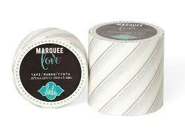 Marquee Tape - HS - Washi - 7/8 - Silver Foil Pinstripe - 12 Feet
